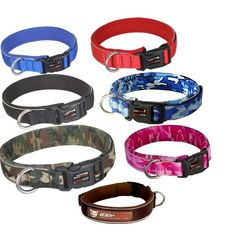 Dog collars and leashes - new or used.  Preferably nylon.