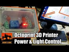 Using Octoprint for Power and Lighting Control « Adafruit Industries – Makers, hackers, artists, designers and engineers! Power Cable, Engineers, Printers, Science And Technology, 3d Printer, Cnc, Project Ideas, Monitor, Designers