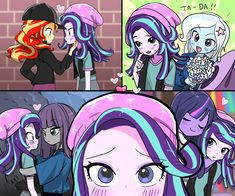 I ship all of these on some level but Trixie x starlight is superior Artist; My Little Pony Poster, My Little Pony Comic, My Little Pony Drawing, My Little Pony Pictures, Mlp My Little Pony, My Little Pony Friendship, Anime Girlxgirl, Kawaii Anime, Goth Disney Princesses