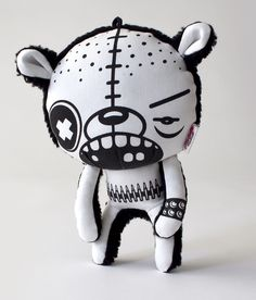 """Bully the Alpha Male"" Designer Plush Toy by Pretty Disturbed, via Behance"