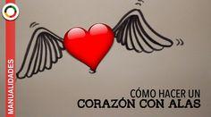 Cómo dibujar un corazón con alas. How to draw a heart. San Valentin. Valentine´s Day