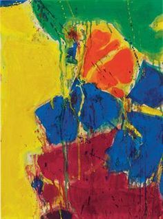 Sam Francis (1923-1994)  Green, Yellow, Blue, Red