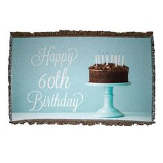 60th Birthday Woven Blanket