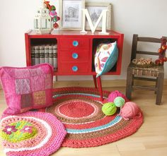 Alfombra Ikea, Crochet Home Decor, Cool Rooms, Room Colors, Play Houses, Colorful Decor, My Dream Home, Kids Playing, Painted Furniture