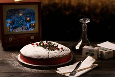"""Vasilopita"" cake (New Year's Day cake) - Petros Syrigos Vasilopita Cake, Orange Zest, My Recipes, Sprinkles, Vanilla, Tasty, Sugar, Homemade, Dishes"