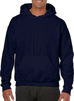 Hooded Pullover Sweat Shirt Heavy Blend 5050  Navy 18500 S -- You can get additional details at the image link.