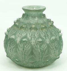 RENE LALIQUE FRANCE 'FOUGERES' VASE