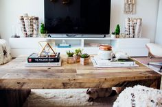 I really love the table and layout #mylifeaseva 's living room