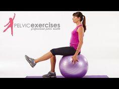 3 Pelvic Floor Safe Core Stability Ball Exercises for Women - bekkenbodem - Sport Stability Ball Exercises, Pelvic Floor Exercises, Core Stability, Core Exercises, Belly Exercises, Ab Core Workout, Barre Workout, Workout Men, Floor Workouts