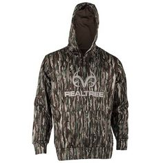 08024f7df75e This Realtree Men's Original Antler Logo Tech Hooded Jacket is made for  being out in the woods Hunting or Everyday Wear.