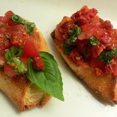 (roma)Tomato Basil Crostini