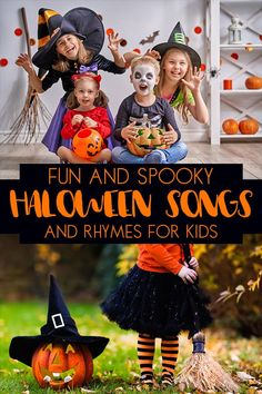 Fun Halloween Songs and Rhymes for Toddlers and Preschoolers to sing out loud Rhymes For Toddlers, Halloween Activities For Toddlers, Halloween Crafts For Kids, Autumn Activities, Easy Halloween, Halloween Decorations, Toddler Activities, Halloween Rhymes, Halloween Songs