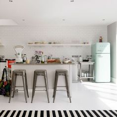 mint smeg fridge. I need one. Its the only fridge that will fit in my house plan ;)