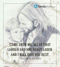 Come unto him for rest.