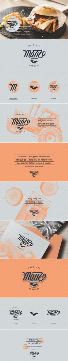 Manzo Original Burgers by Studio AIO (logo & Branding)