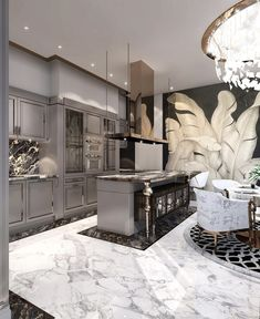 Inspiring Kitchen Floor Plans You Will Love / Design / Amazing …. We are swooning over this gorgeous kitchen! Let us know 👇🏻 ⠀⠀⠀⠀⠀ ⠀⠀⠀⠀⠀⠀⠀⠀⠀ ⠀⠀⠀⠀⠀ ⠀⠀⠀⠀ ⠀ ⠀ 📷: House design (Visited 4 times, 1 visits today) Home Design, Luxury Kitchen Design, Luxury Kitchens, Interior Design Kitchen, Design Ideas, Modern Interior, Design Trends, Modern Luxury, Marble Interior