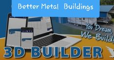 Try our New 3D Builder.  Customize your metal building and get an estimated quote for what you need.  Questions?(must call or text to get greatest discounts) Call or text 430-252-1912. This 3D builder is great. A little slow but accurate. Still for exact pricing AND discounts you must talk to a specialist. So call or text 430-252-1912 Metal Buildings For Sale, Loafing Shed, Custom Garages, Built In Storage, Barn, Wellness, Quote, 3d, This Or That Questions