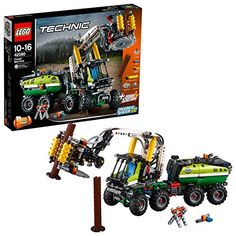 LEGO 42080 Technic Forest Machine Forklift Toy Truck, 2 in 1 Model, Power Functions Construction Set for Kids Lego Technic Sets, Porsche 911 Rsr, Lego Mindstorms, Legos, Container Transport, Technique Lego, Logging Equipment, 12 Year Old Boy, Farm Toys