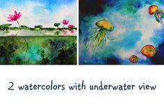 2 designs with underwater life by Katerina Izotova on @creativemarket