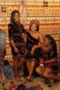 Traditional Cameroon Dress - Bamenda  lol found my sister, mum  I on Pinterest