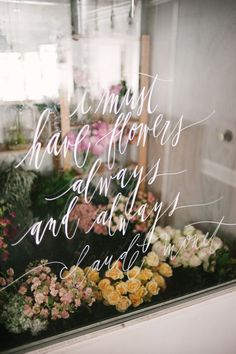 Beautiful marketing for flower shop. I must have flowers always and always. Claude Monet