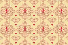 Seamless Damask Wallpaper by kio on @creativemarket