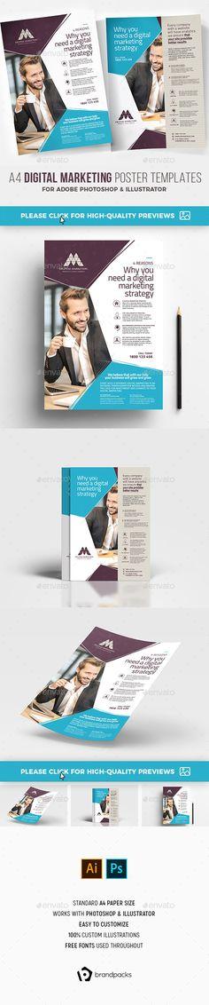 Digital Marketing Poster/Advertisement Templates - Corporate Flyers