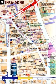 Map of Insadong
