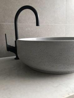 Modern Bathroom Design, Bathroom Interior Design, Beach Cottage Kitchens, Laundry In Bathroom, Bathroom Basin, Concrete Basin, Kitchen Organization Pantry, Apartment Renovation, Bathroom Inspiration