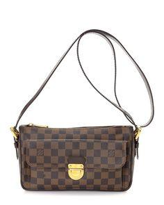 Louis Vuitton Ravello Damier Ebene Shoulder Bag - Vintage
