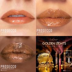 Prosecco LipSense by SeneGence is a Limited Edition lipcolor described as a soft nude coral with a hint of gold shimmer.  Part of the Golden Lights Collection, click thru to purchase yours now.  #goldenlights #senegence #lipsense #prosecco #goldlipstick