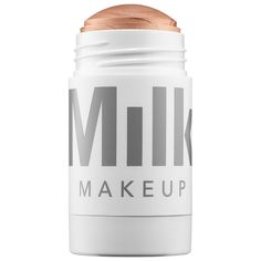 Shop MILK MAKEUP's Highlighter at Sephora. A dewy, everyday, champagne-pearl-hued cream highlighter stick that glides on for a natural glow. Milk Makeup Highlighter, Milk Makeup Sephora, Cream Highlighter, Liquid Makeup, Face Bronzer, Applying Highlighter, Bronzer Makeup, Makeup Contouring, Makeup Products