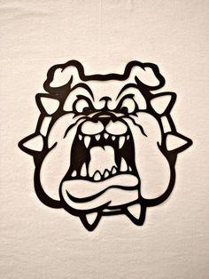 Hell Hound Bulldog with Spiked Collar Metal Wall Sculpture – Metalhead Art & Design, LLC Metal Tree Wall Art, Metal Wall Sculpture, Tree Sculpture, Wall Sculptures, Metal Art, Silver Wall Art, Bulldog Mascot, Bulldog Cartoon, Cult