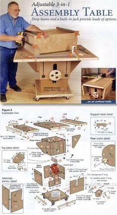 Assembly Table Plans - Furniture Assembly Tips, Jigs and Techniques | WoodArchivist.com