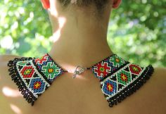 Beaded necklaces traditional necklaces collar the by svetiknekleva