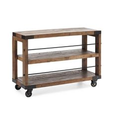 Distressed Wood Shelf   dotandbo.com