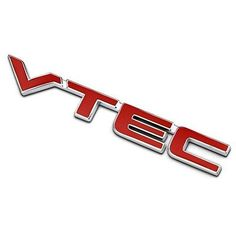Metal red letter VTEC car sticker auto fender decal emblem for Honda Accord CRV