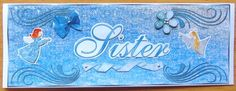 Winter Angels Sister Dl Card with Optional Embellishments. by Joyce Watson