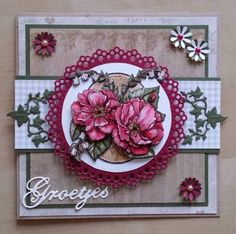 Leuk 3d Cards, Paper Cards, Marianne Design, Mothers Day Cards, Happy Birthday Cards, Cardmaking, Diy And Crafts, Greeting Cards, Crafty