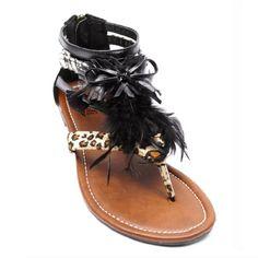 Womens Summer Gladiator Roman Feather Suede Thong T-Strap Flats Sandals Shoes (Size 7, Black) Kali Footwear,http://www.amazon.com/dp/B00ENN4V96/ref=cm_sw_r_pi_dp_4xPzsb1SPN7Y9JXX