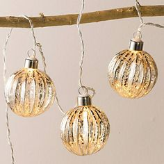 Antiqued Bauble Fairylights | The White Company