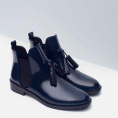 Осень зима нью шик женщины ботильоны челси двойной кисточки искусственная кожа дамы мода обувь квартиры каблуки резинкамикупить в магазине  Lulu & Co.наAliExpress