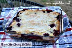 Mommy's Kitchen - Country Cooking & Family Friendly Recipes : Magic Blackberry Cobbler (Fluffy on the inside with a magic crispy topping) #cobbler #blackberries