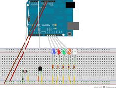 A design for a programming learning module using Arduino. It includes several leds, a temperature and a light sensor.  #physicalcomputing #arduino #csed #programming