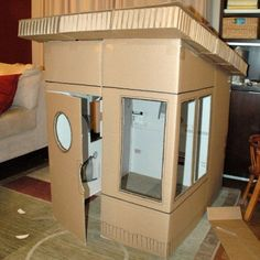 Loved doing this when i was a kid - cardboard forts/playhouses were the best :)