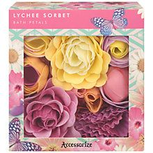 Buy Heathcote & Ivory Accessorize Lychee Sorbet Bath Petals Online at johnlewis.com