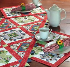 """FREE project: """"Earth's Bounty Placemats"""" (from The Quilter Magazine)"""