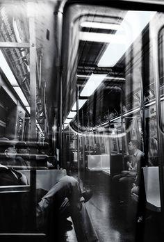 New York subway by Jörgen Ekstrand on Photography New York, Classic Photography, Photography Projects, Film Photography, Black And White Photography, Street Photography, Underwater Photography, Abstract Photography, Animal Photography