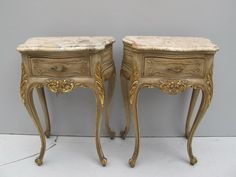 Pair of French Louis XV patinated nightstands # 08461