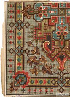 ru / Fotoğraf # 27 - ed. Cross Stitch Borders, Cross Stitch Charts, Cross Stitch Designs, Cross Stitching, Cross Stitch Embroidery, Cross Stitch Patterns, Needlepoint Patterns, Embroidery Patterns, Rug Patterns
